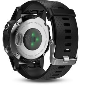 Garmin fenix 5S GPS Multisportuhr mit schwarzem Armband silber